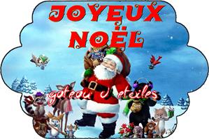 Etiquette azyme Joyeux Noël