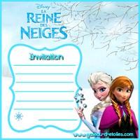 Invitation anniversaire gratuite la reine des neiges - Regarder la reine des neiges gratuit ...